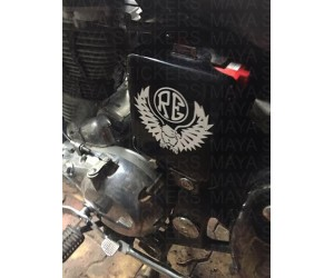 Eagle and RE custom royal enfield side box stickering