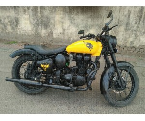 Skull fuel tank sticker for modified royal enfield classic