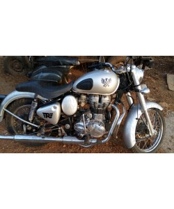 Griffin royal enfield sticker for classic 350 silver tank