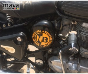 Noisy Boy Since 1901 sticker on RE classic 350 black