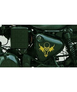 Skull stickering on Royal enfield tool box