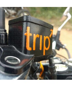 Trip sticker for Brake fluid container