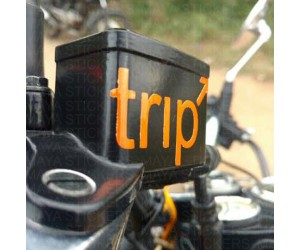 Trip sticker for Brake fluid container bullet