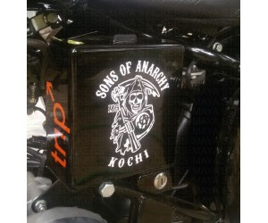 Sons of Anarchy sticker with custom city names