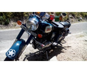 Star sticker for Royal enfield classic 350 lagoon blue front mudguard