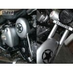 Star sticker in Distressed style with scratches design for cars, bikes, laptops