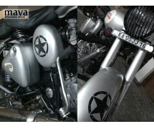 Star sticker for classic 350 silver mudguard and battery box