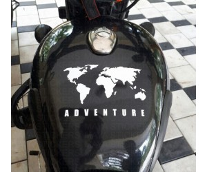 Adventure stickering on royal enfield classic tank