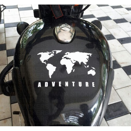 World Map Adventure Sticker For Himalayan Thar And Other