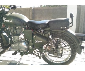 Classic 500 tool box logo sticker on Military green modified royal enfield