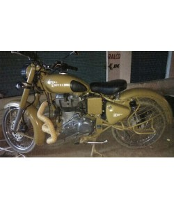 Royal enfield old logo tank sticker on desert storm