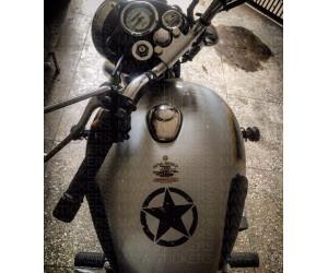 Star sticker on classic 500 tank top