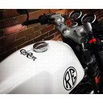 Cafe Racer textual logo sticker / decal for bikes