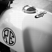 Royal Enfield continental GT sticker works