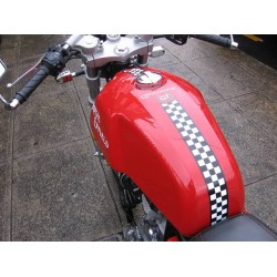 Dual colored tank stripe for Royal enfield continental GT