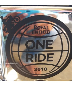 One ride sticker for Royal Enfield battery box