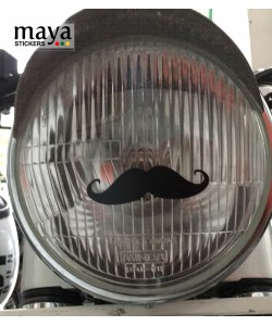 Moustache sticker for bike headlights