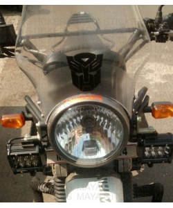 Transformer sticker for RE Himalayan windshield