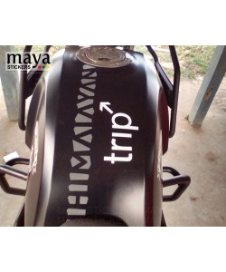 Trip sticker for royal enfield himalayan tank top