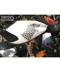 GOT wolf stickering on royal enfield himalayan handguard