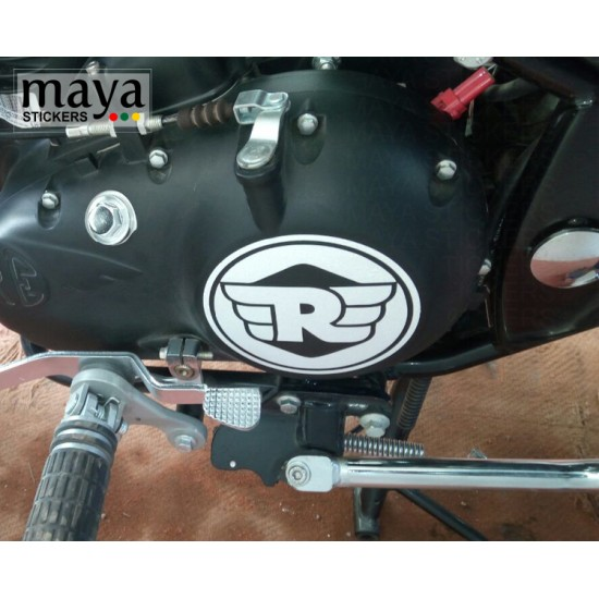 Royal enfield new 'R' logo stickers
