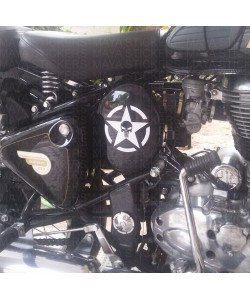 Skull and star sticker for Royal Enfield classic 350 oval box