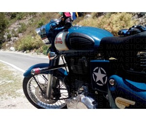 Star sticker for royal enfield classic 350 battery box blue lagoon