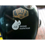 Blood type / group with name stickers for bikes, helmets, cars.