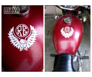 Eagle and RE sticker on RE thunderbird tank