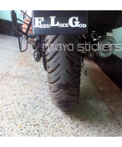 Feel like god Bajaj Avenger Mud flap stickering