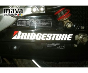 Bridgestone logo sticker for Hero Xtreme