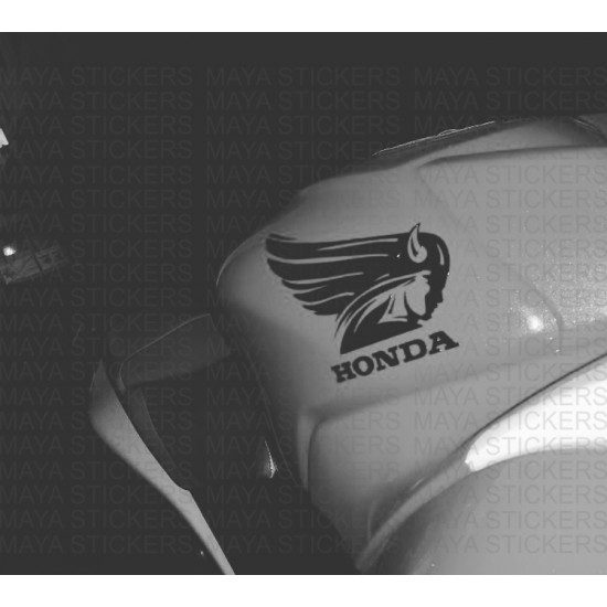 Honda wings unique logo sticker decal for honda bikes and cars