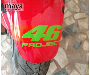 46 project sticker on Hyosung GTR fender