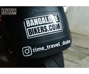 Instagram handle sticker for ktm duke tyre hugger