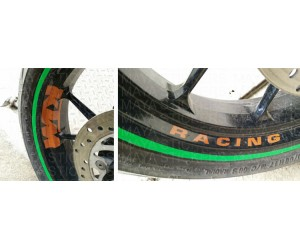 KTM racing sticker for wheel rim