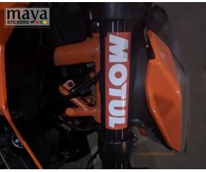 Motul logo sticker for KTM duke fork