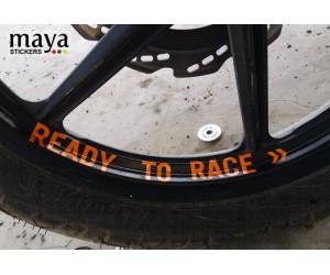 Ready to race sticker for ktm duke wheel rim