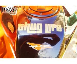 Thug life sticker on KTM duke tank top