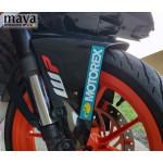 Motorex logo sticker for KTM and other bikes.