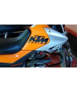KTM racing logo sticker applied on hero impulse
