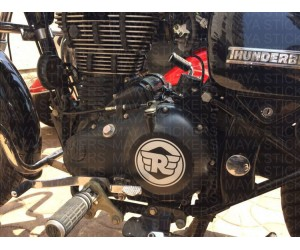 Royal enfield new logo for RE thunderbird engine
