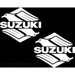 Suzuki stylized logo for suzuki bikes and maruti suzuki cars (pair of 2 stickers)