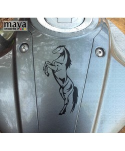 Horse sticker on suzuki gixxer tank top