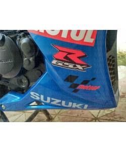Moto GP logo stickers on Suzuki Gixxer SF
