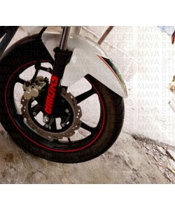 Showa logo sticker for TVS apache RTR front shocks