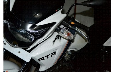 TVS apache RTR sticker works