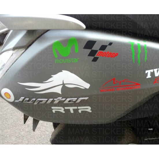 Horse Logo Stickers For Bikes, Cars, Laptops