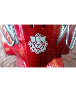 Ganesha Decal sticker for TVS Wego
