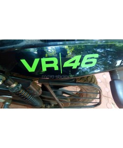 Rossi VR46 logo sticker on bajaj pulsar 150 side panels
