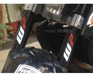 WP logo sticker on KTM duke